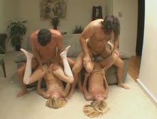 Deux jeunes blondes dans une partouze! - XXX - MESVIP